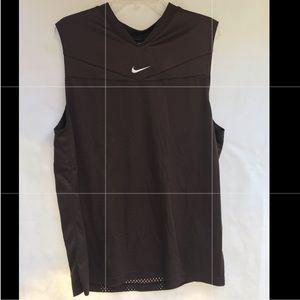 Nike men's top size medium brown sleeveless v-neck